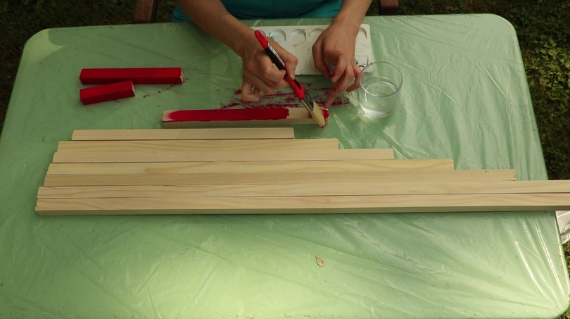 fabrication barres rouges montessori